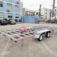 3.5吨移动房车底盘 无动力骨架式工具拖车