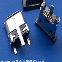 立贴MICRO5P母座 三脚插板立式贴片高度6.7MM