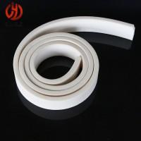 硅胶密封条 白色扁条 方条 防水实心减震耐高温防滑垫片可定做