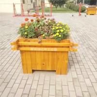 供应献县瑞达户外实木花箱植物种植槽