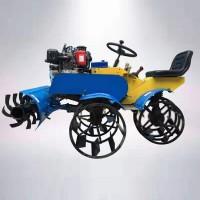 四驱乘坐式水稻田打浆机 小型自走式水田旋耕机 柴油耕田机