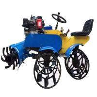 乘坐式打田旋耕机 四驱打浆机 大铁轮自走式旋耕机