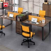 办公家具厂家定制直供职员员工办公桌带柜子椅子组合美格利生