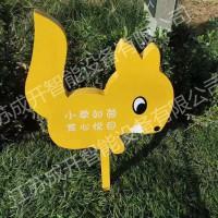 花鸟牌定制 不锈钢草地保护标识牌 宣传语立牌 小草如茵牌