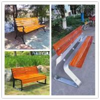 供应献县瑞达广场铸铁防腐木靠背椅休闲阳台座椅