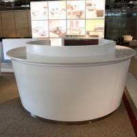 佛山银行家具生产厂家 银行烤漆圆形业务引导台银行前台