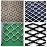 吊顶菱形孔钢板网 幕墙装饰铝板拉伸网 建筑外墙重型金属板网