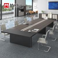 陕西定做办公家具厂 大型会议桌可坐20-30人6米长会议桌
