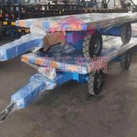 3吨平板拖车前后带可拆护栏