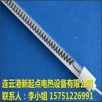 半镀白中波碳纤维石英加热灯管