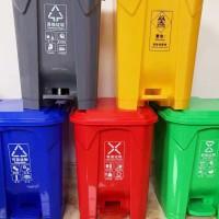 献县瑞达户外脚踏塑料垃圾桶厂家定制批发