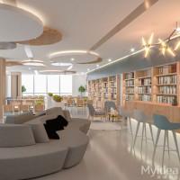 图书馆家具厂家阅览室钢制柜图书馆书架阅读桌椅美格利生