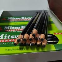 日本三菱7600手撕卷纸蜡笔油性拉线蜡笔工业标记记号笔12色