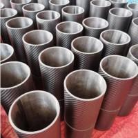 3K斜纹亮光碳纤维圆管 高强哑光碳纤维卷管 碳素管