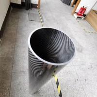 碳纤维管多规格定制 大直径壁厚2mm碳纤维圆管