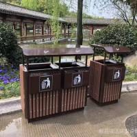 献县瑞达户外景观园林木条环保垃圾箱