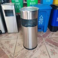 献县瑞达定制批发酒店大堂立式带烟灰缸不锈钢垃圾桶