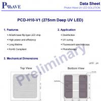 275nmPCD-H10-V1深紫外PW UVC芯片22mW