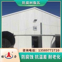 耐腐树脂瓦 山东潍坊塑料玻纤瓦 厂房墙体板耐酸碱腐蚀