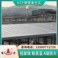 ASP钢塑复合瓦 河北衡水覆膜钢塑瓦 防火耐腐板建材厂家