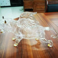 空心老虎玻璃瓶 寅虎白酒瓶  生肖虎泡酒器 创意玻璃瓶