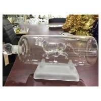 直管玻璃虎酒瓶  工艺酒瓶 老虎吹制白酒瓶 异形玻璃瓶