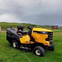 双驱侧排骑乘式割草机 进口汽油草坪车 园林除草座驾式割草机