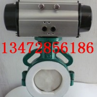 上海依博罗D671F46气动对夹式衬氟蝶阀